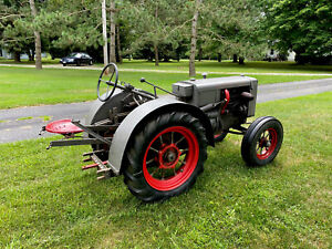 Rare Antique Tractor 1937 Centaur Kv Unstyled Spoked Wheels Orchard Fenders