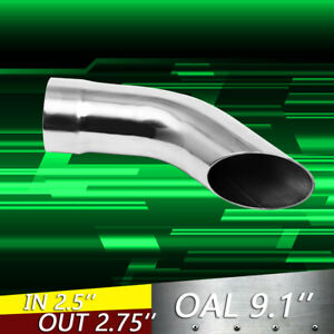 1 Piece 2 5 Stainless Turn Down Exhaust Tip 2 1 2 Inlet 2 3 4 Outlet 9 Long