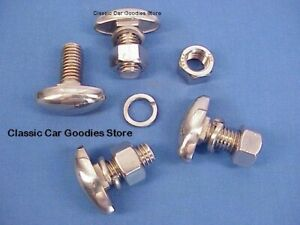 1938 1946 Chevy Truck Bumper Bolts 4 Stainless 1939 1940 1941 1942