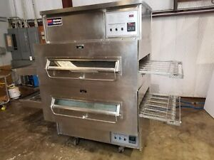 Middleby Marshall Ps360 Dbl Stack Nat Gas Conveyor Pizza Ovens video Demo