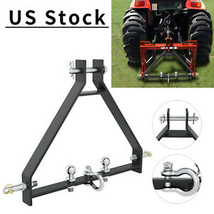 3 Point Hitch Receiver Cat 1 Tractor Trailer Tow Drawbar Fit Quick Hitch Imatch
