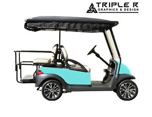 Golf Cart Full Body Wrap For Club Car Precedent Polka Dot