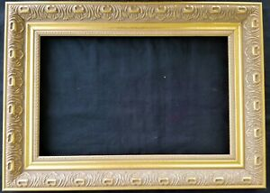 14 X 9 Picture Frame Painting Frame Ornate Gold Finish Wood Wooden