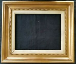 14 X 11 Picture Frame Painting Frame Ornate Gold Finish Wood Wooden Matted
