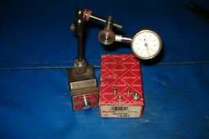 Starrett 657 Pivot Post Magnetic Base 196 Dial Indicator W extension 3 Tips