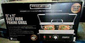 Chef built cpf 175 15 X 11 Commercial Cast Iron Panini Grill Flat