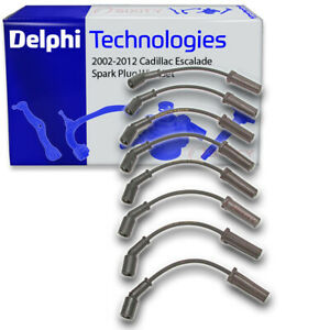 Delphi Spark Plug Wire Set For 2002 2012 Cadillac Escalade Ignition Coil Jf