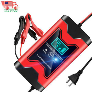 12v 6a Smart Car Battery Charger Automotive Battery Maintainer Jump Starter Us