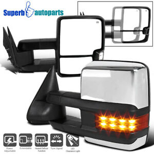 For 99 02 Silverado Sierra Facelift Led Signal Lamps Power Heat Towing Mirrors