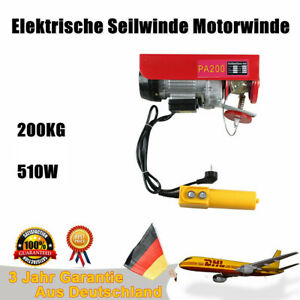 Electric Wire Cable Hoist Winch Crane Lift Overhead Hanging Cable Lift Hook 220v