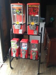 5 Vending Machine Gumball candy capsule With Rack Bulk Toy Amusement Retail