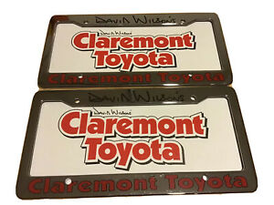 Claremont Toyota License Plate Frame Dealership California Tag Pair So Cal