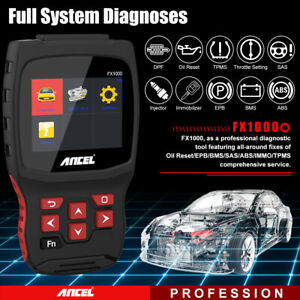 Ancel All System Scan Diagnostic Abs Sas Dpf Tpms Immo Code Reader Auto Tool