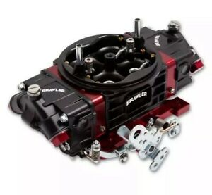 Holley Quick Fuel Carburetor Br 67331 Brawler Race 750 Cfm Mechanical Black red