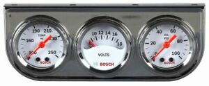 Bosch 1 1 2 Mini Triple Gauge Kit White Chrome Bezel Fst8092 Authorized
