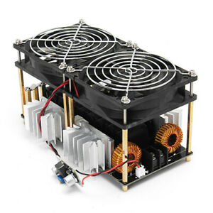 1800w Zvs Low Voltage Convenient Diy Pcb Coil Induction Heating Board Dual Fans