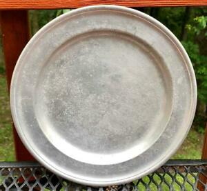 Scarce Antique American Pewter Plate Fred Bassett Ny Hartford Ct C 1761