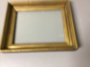 Antique Vtg Deep Cove Well Solid Wood Gold Gilt Frame 12 5 8 X 10 5 8 X 1 3 4