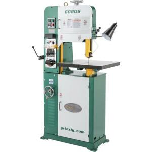Grizzly G0806 14 1 1 2 Hp Variable speed Vertical Metal cutting Bandsaw