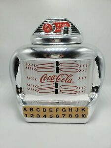 Coca Cola Brand Cookie Jar Silver Juke Box By Gibson Vintage 2000