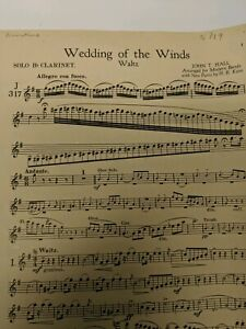 Clarinet Sheet Music Wedding Of The Winds By John Hall 1947