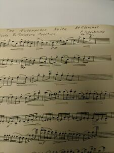 Clarinet Sheet Music Transposed The Nutcracker Suite Miniature Overture March