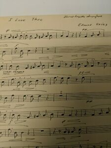 Clarinet Sheet Music I Love Thee By Edvard Grieg Hand Transposed