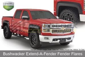 69 3in Bed Extend A Fender Flares Set Oe Matte Blk For 2007 2013 Silverado 1500