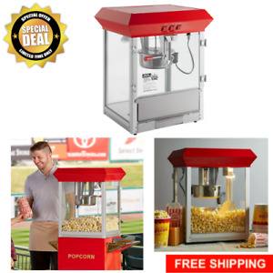 New Carnival King Commercial Popcorn Maker Machine 8 Oz Popper Concession Kettle