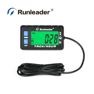 Lcd Digital Hour Meter Maintenance Tachometer Alert Rpm For Atv Motorcycle