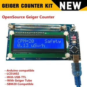 New Assembled Geiger Counter Nuclear Radiation Detector System Lcd Arduino Nano