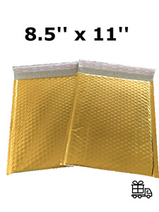 Bubble Mailers 8 5x12 Padded Envelopes Gold With Usable Space 8 5 X 11