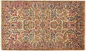 Antique Traditional Floral Oriental Rug In Small Size With Free Shipping