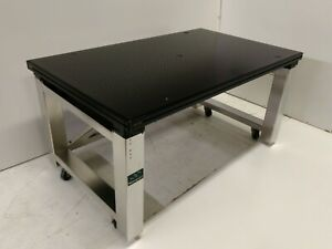 Tested Melles Griot 3x5 Optical Table Newport Stainless Isolation Bench Wheels