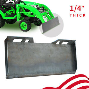 1 4 Quick Tach Attachment Mount Plate Heavy Duty Steel Front Loader Plate