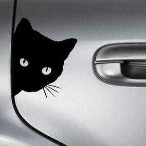 Diy Reflective Cat Face Peering Car Decal Window Truck Auto Bumper Body Stickers