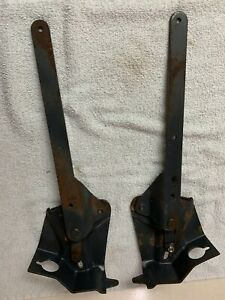 1967 1968 1969 Camaro Rear Fold Down Seat Hinges Pair