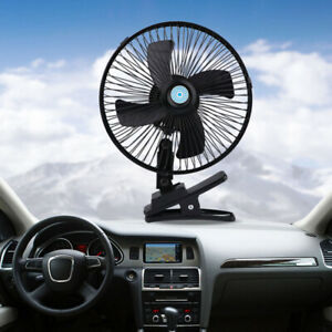10 Inch 12v Dashboard Oscillating Vehicle Car Van Truck Home Desk Clip On Fan