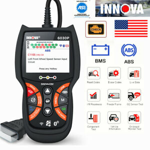 Obd Obdii Abs Engine Code Reader Car Auto Battery Test Diagnostic Innova 6030p