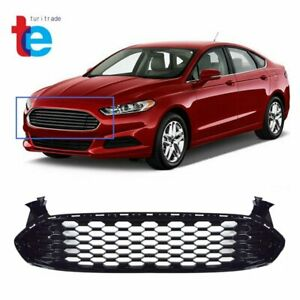 Fit For 2013 2014 2015 2016 Ford Fusion Gloss Black Honeycomb Front Grille