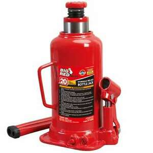 Torin Big Red 20 Ton Capacity Hydraulic Welded Industrial Bottle Jack For Parts