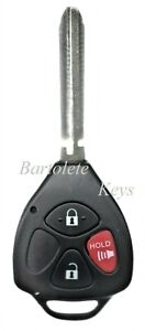 Replacement Remote Keyless Entry Key Blank Fob For Toyota Corolla Camry Tacoma