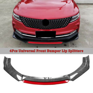 Universal Car Front Bumper Lip Spoiler Splitter Body Kits 2 Layer Carbon Fiber