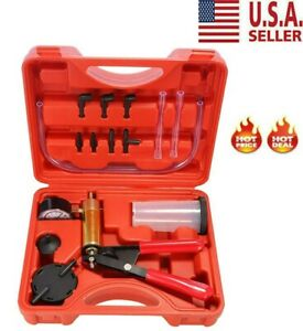 New Car Hand held Vacuum Pressure Pump Tester Kit Brake Fluid Bleeder With Box