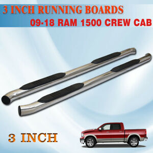 3 Nerf Bar Running Board Fit 10 18 Dodge Ram 1500 2500 Crew Cab Side Step Oval