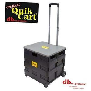 Dbest Products Quik Cart Two Wheeled Collapsible Handcart With Grey Lid Rolling
