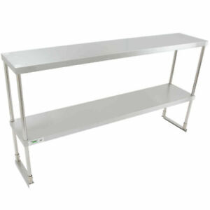 Stainless12 X 60 X 32 Steel Work Prep Table Commercial Double Deck Overshelf