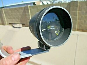 Vintage 1970 s Stewart Warner Stage 1 Tachometer 8000 Rpm W mount Hot Rat Rod