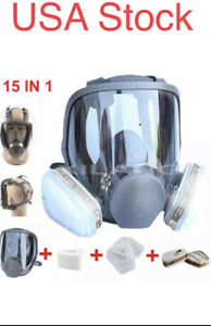 Full Face Gas Mask For 6800 Facepiece Respirator 15in1 Suit Usa Stock Fast Ship