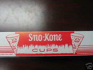 Snow Cone Cups 5 Boxes 200 6oz Gold Medal 1000 Cones